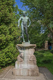 Statue of a naked man. Stock Images