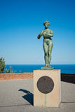 Statue of Naked Woman At Montjuic Castle in Barcelona Royalty Free Stock Photography