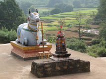 Statue of Nandi the bull royalty free stock photography
