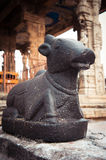 Statue of Nandi Bull at Hindu Temple Stock Image