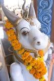 Statue of Nandi the Bull outside Shiva temple Goa, India Royalty Free Stock Photos