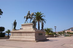 statue of Napoleon Bonaparte and his four brother Royalty Free Stock Photo
