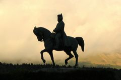 Statue of Napoleon, Laffray, France Stock Images