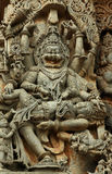 Statue of Narasimha (Halebid, India) Stock Photo