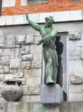 Statue of the National Library, Ljubljana Royalty Free Stock Photos