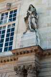 Statue  at the Nationals Archives in Paris. Statue at the Nationals Archives in the Marais district in Paris, France Royalty Free Stock Images