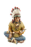 Statue of a native american , indian. On white Royalty Free Stock Photography