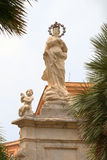 Statue near Cathedral of Monreale. Sicilia, Italy Royalty Free Stock Photo
