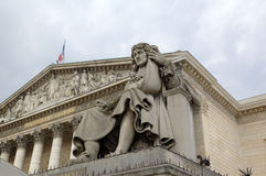 Statue near National Assembly. Paris, France Royalty Free Stock Image