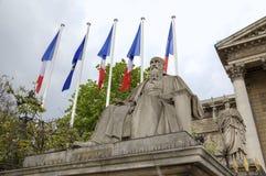 Statue near National Assembly. Paris, France Stock Photos