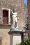 Statue near Saint Giuliano church in Erice. Stock Photography