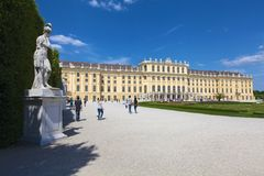 Statue near Schonbrunn Palace in Vienna, Austria Royalty Free Stock Photography