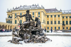 Statue near Schonbrunn Palace in Vienna Royalty Free Stock Photo