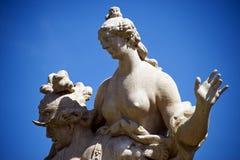 Statue nel giardino di Mirabell a Salisburgo fotografia stock