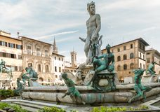 Statue of Neptun in Florence, Italy Royalty Free Stock Photo