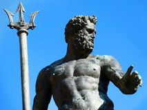 Statue of neptune in Bologna stock photography