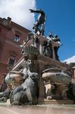 Statue of Neptune, city of Bologna. The statue of Neptune seen from the bottom in Piazza Maggiore City of Bologna Stock Photography