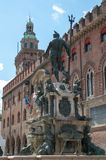Statue of Neptune, city of Bologna. The statue of Neptune view of shoulders in Piazza Maggiore City of Bologna royalty free stock images