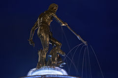 Statue of Neptune decorating the Old Square of Gdansk Royalty Free Stock Photo