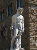 Statue of Neptune in Florence. Statue of Neptune as part of the fountain on Piazza della Signoria in Florence, Italy Stock Photos