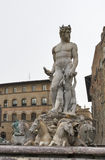 Statue of Neptune in Florence, closeup. Statue of Neptune closeup in Florence, Italy Stock Image