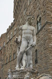 Statue of Neptune in Florence, closeup Stock Photos
