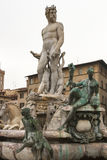 Statue of Neptune in Florence, closeup Royalty Free Stock Photos