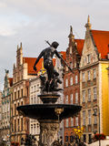 Statue of Neptune in Gdansk Royalty Free Stock Photography