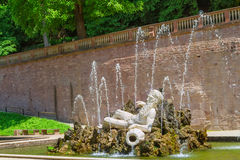 Statue of Neptune in the Heidelberger Castle Royalty Free Stock Photos