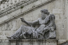 Statue of Neptune at Piazza del Campidoglio, Rome, Italy Royalty Free Stock Image