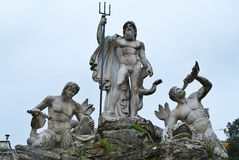 The statue of Neptune in Piazza del Popolo, Rome, Italy. The statue Neptune in Piazza del Popolo, Rome, Italy stock photography