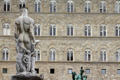 Statue Neptune on Piazza della Signoria in Florence, Italy Royalty Free Stock Photos