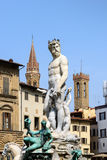 Statue of Neptune, Piazza della Signoria, Florence (Italy) Royalty Free Stock Images