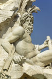 Statue of Neptune in Piazza Navona Royalty Free Stock Photo