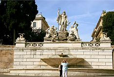 Statue of Neptune in Rome Stock Images