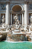 The Statue of Neptune. Trevi Fountain in Rome, Italy. Royalty Free Stock Images
