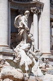 The Statue of Neptune. Trevi Fountain in Rome, Italy. Royalty Free Stock Photography