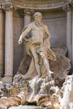 Statue of Neptune at the Trevi Fountain. Rome, Italy Royalty Free Stock Images