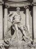 Statue of Neptune in Trevi Fountain in Rome, Italy Royalty Free Stock Photography