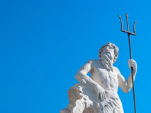 Statue of Neptune with trident Stock Image