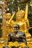 Statue nere e dorate Fotografie Stock Libere da Diritti