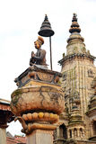 Statue of the Newari King Ranjit Malla in Bhaktapur, Nepal Royalty Free Stock Images