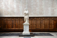 Statue of Newton Inside Trinity College Chapel Royalty Free Stock Photo
