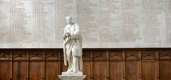 Statue of Newton Inside Trinity College Chapel Royalty Free Stock Images