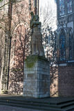 Statue next to Dom church in Utrecht Stock Photography