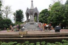 Statue next to park in Thailand. Statue next to Nakhon Chiang Rai Tung Park in Chiang Rai Stock Photos