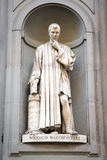 Statue of Niccolo Machiavelli in Florence, Italy Stock Photography