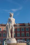 Statue in Nice, France. Image showing a statue in the center of Nice, France on the French Riviera Stock Image