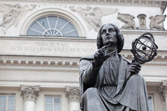 Statue of Nicolaus Copernicus in Warsaw. Stock Images