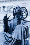 Statue of Nicolaus Copernicus in Warsaw. Toned image. Royalty Free Stock Image